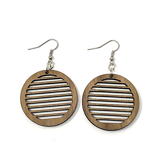 Round Slotted Earrings