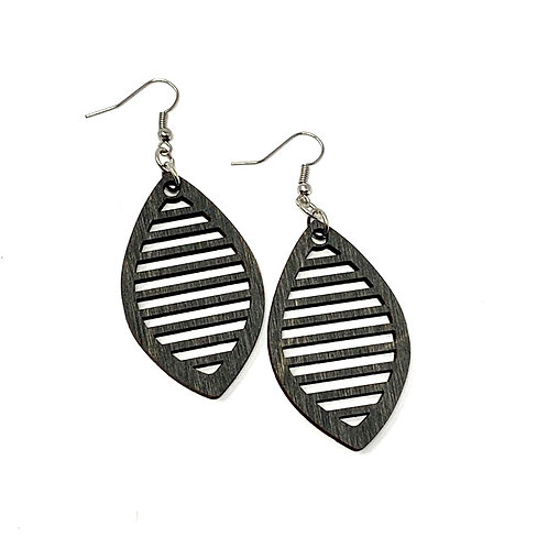 Oval Slotted Earrings