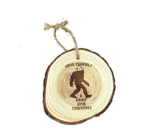 Live Edge Ornament - Bigfoot Santa
