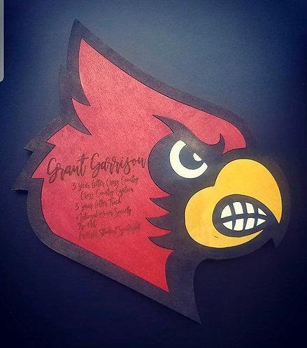 Cardinal Plaque