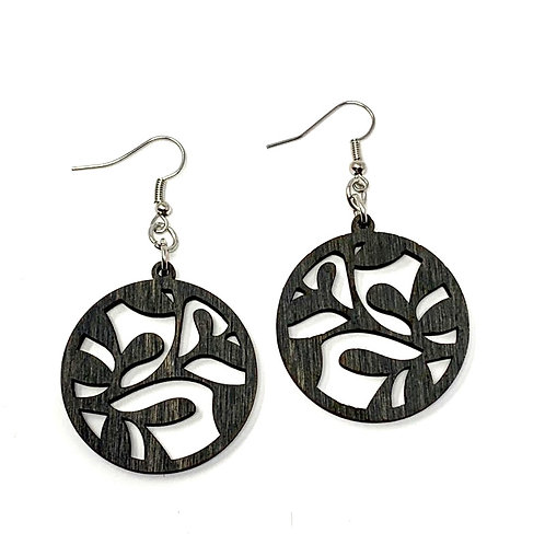 Floral Round Earrings