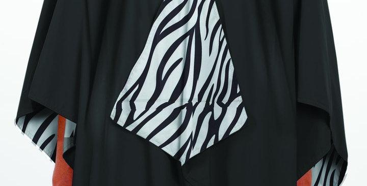 Hooded RAINRAP - Black & Zebra