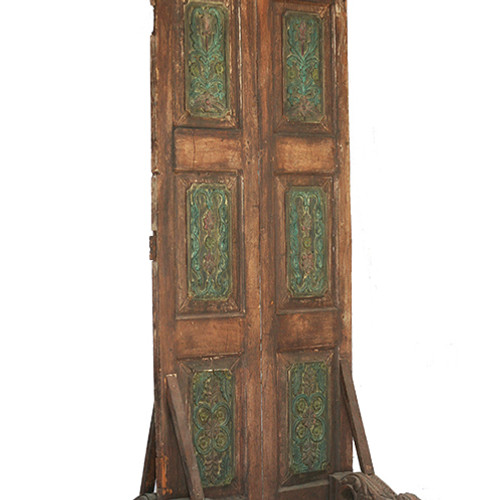 Old Rustic Door Room Divider - Rustic Teak Room Dividers - Rustic Home