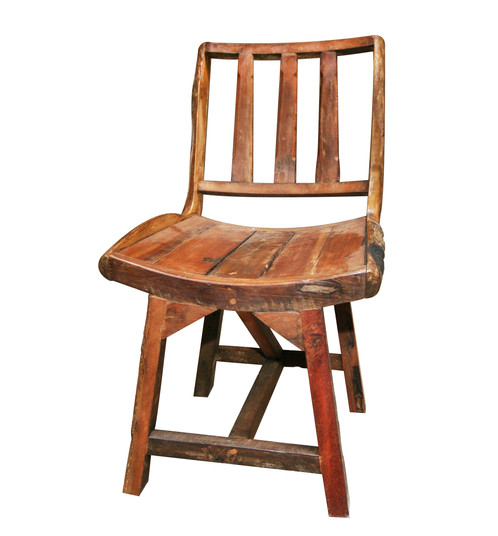Rustic Home will not sell or rent any information that has been given to us  by the customer for the sole purpose of ordering and delivering merchandise. - Rustic Teak Reclaimed Wood Chair Rustic Home