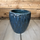 "Thumbnail: 8"" Blue/Gray Glazed ceramic pot"