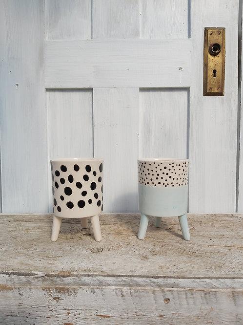 """4"""" Ceramic Polka Dot Planter"""