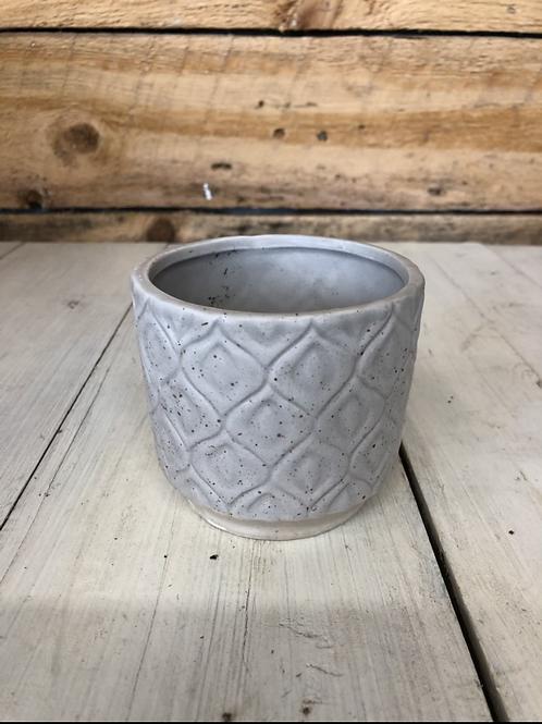 "3.5"" Gray Ceramic pot"