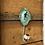 "Thumbnail: Green Keyhole Hook 8"""