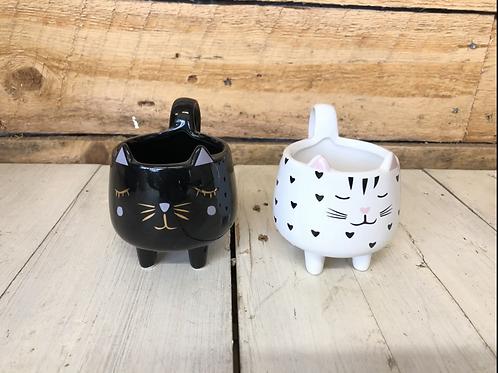 """3"""" Ceramic Cat planter"""