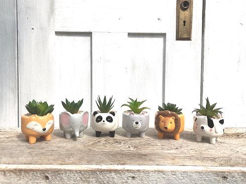 Carefree Animal Ceramic Planter