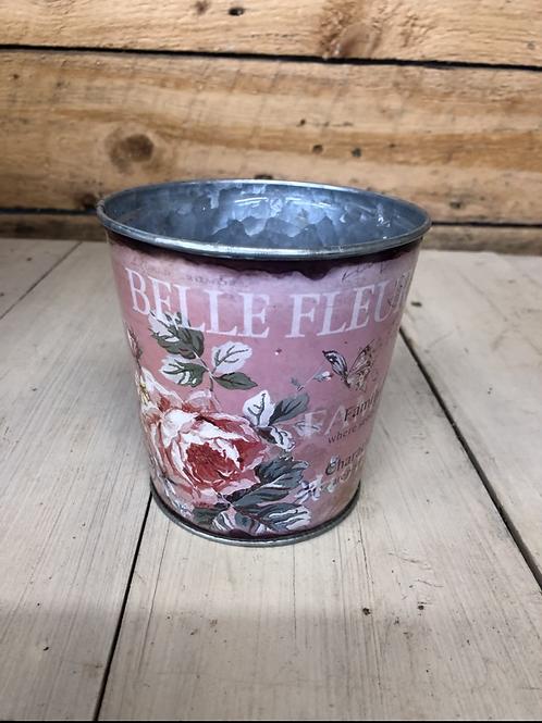 "4.5"" 'belle Fleur""  tin planter"