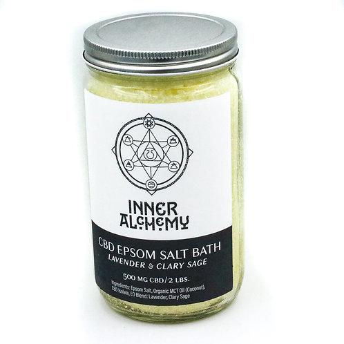 CBD Espom Salt Bath Jar - Lavender & Clary Sage