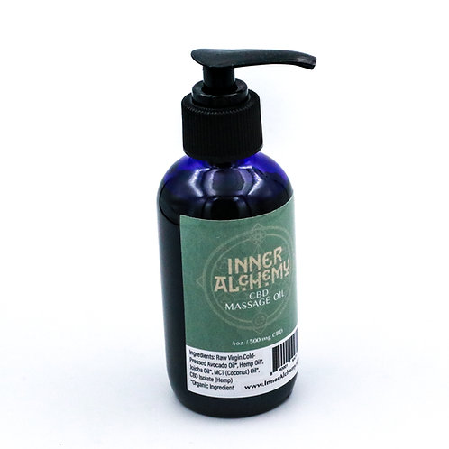 Massage Oil : 4 oz Pump