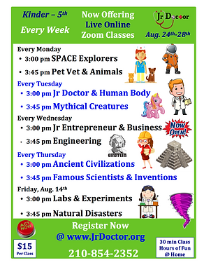 8.24-8.28 Weekly Schedule Flier Green PN