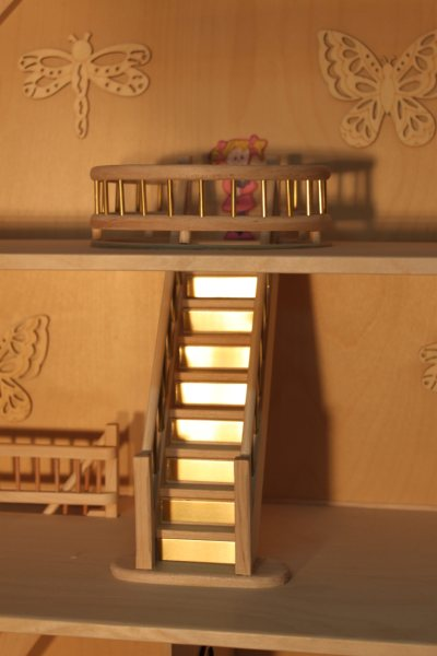 doll house staircase top floor
