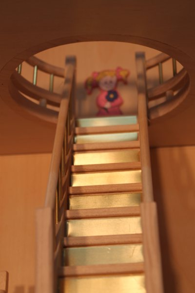 doll house staircase looking up