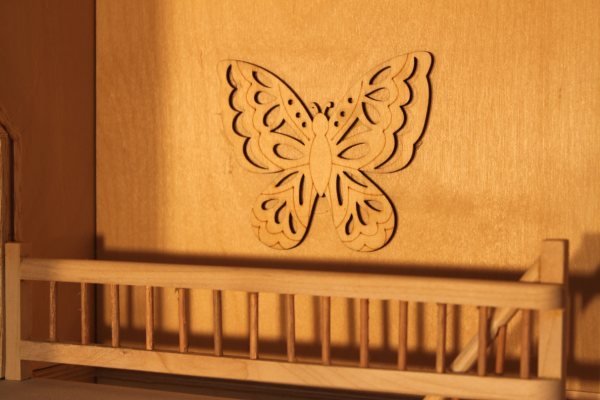 doll house railing and Butterfly