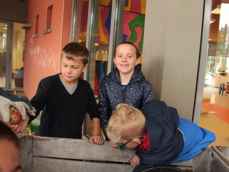 Le pressoir à jus est à l'école !