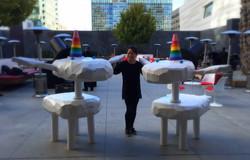6' unicorn statues