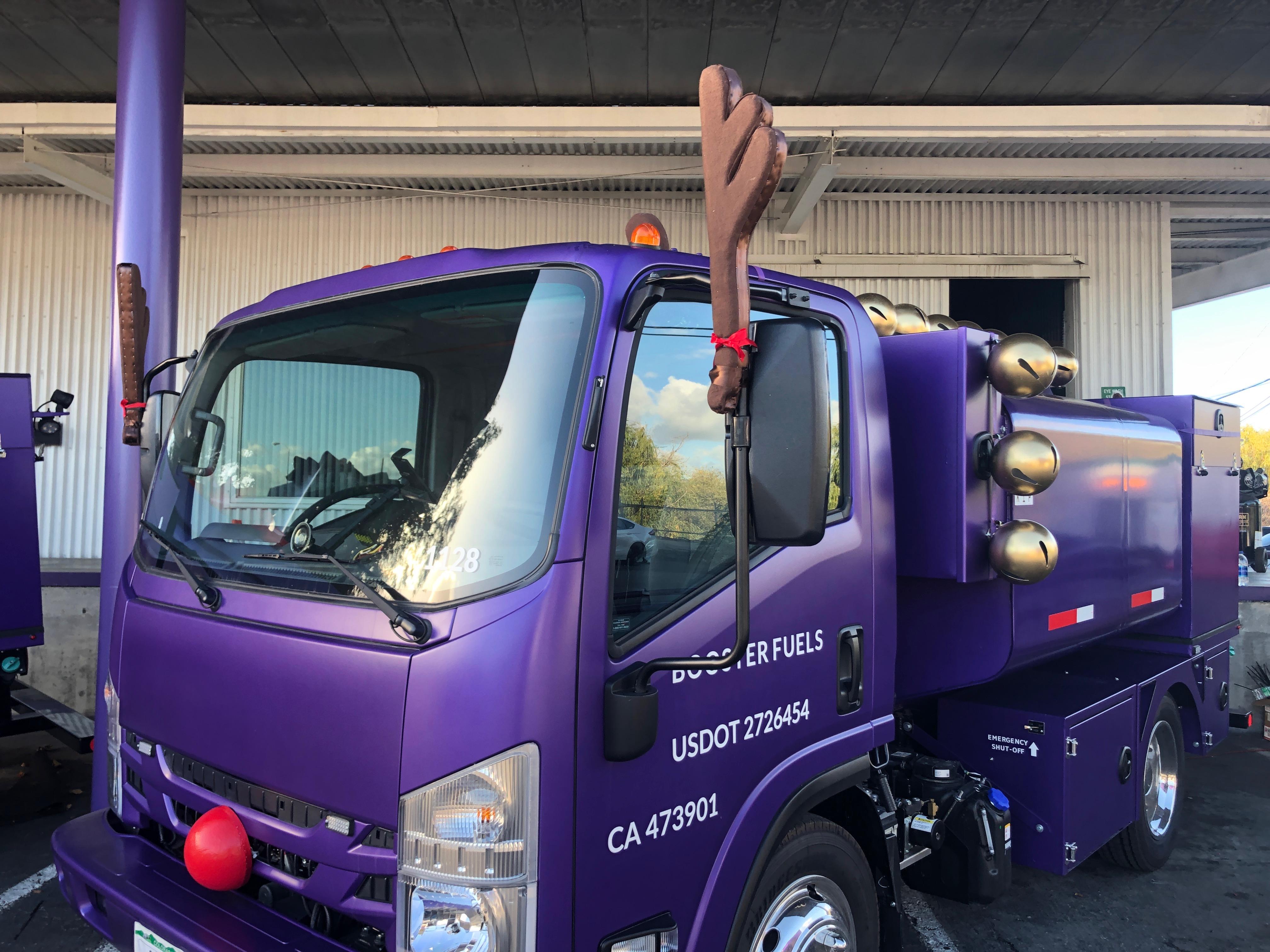 Custom Reindeer Holiday Truck Decor