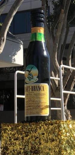 7' tall Fernet Bottle Fabrication