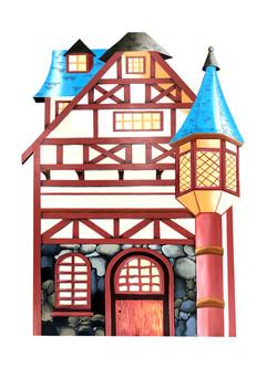 10' high Fairy Tale houses
