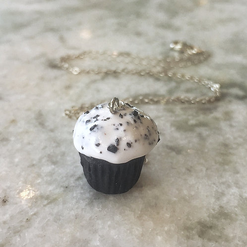 Cookies and Cream Cupcake SS Necklace
