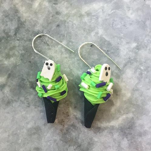 Spooky Sorbet in Grn Apple Deluxe Earrings
