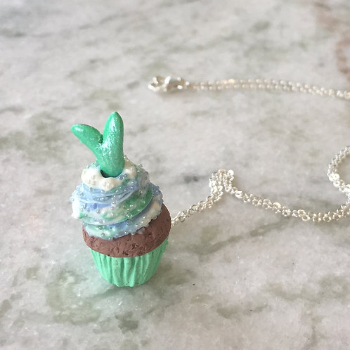 Mystic Mermaid Cupcake SS Necklace
