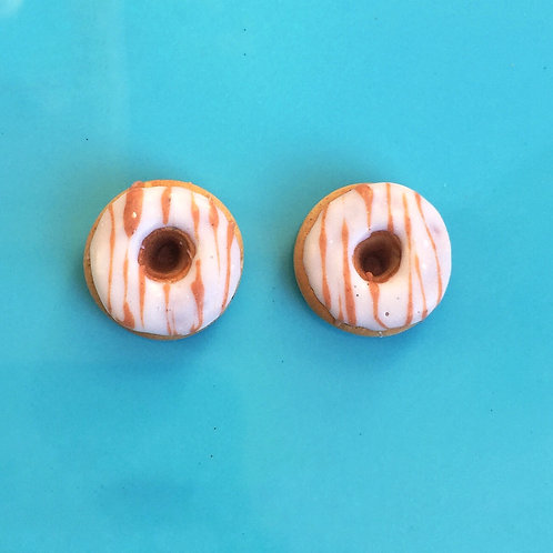 Maple Cream Donut SS Post Earrings