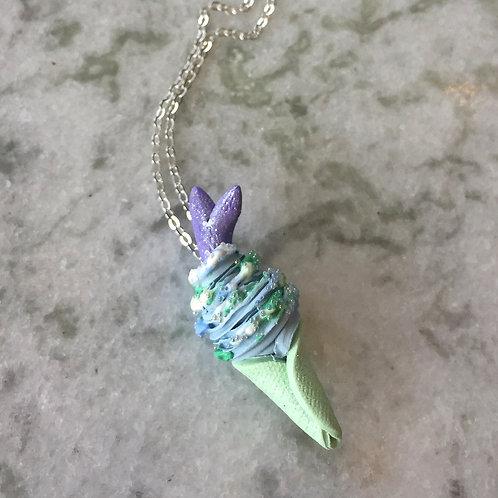 Mystic Mermaid Ice Cream SS Necklace