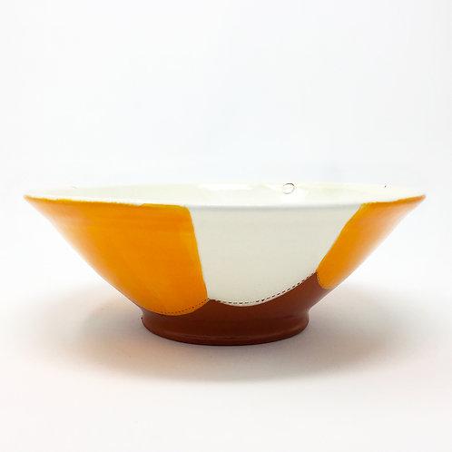 Pasta Bowl Orange / White Stripes