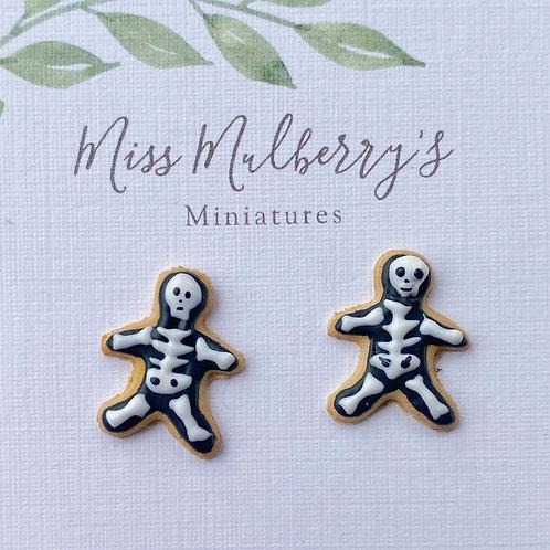 Skeleton Sugar Cookie SS Post Earrings