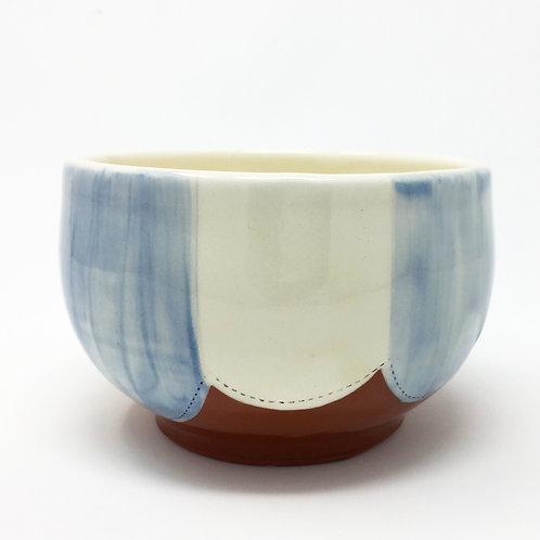 Soup Bowl Blue/ White Stripes