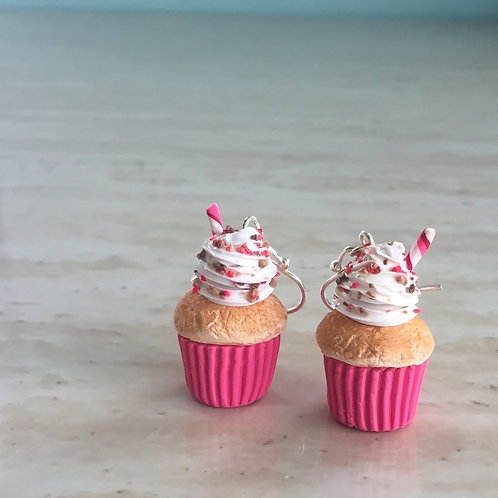 Strawberry Cheesecake Cupcake SS Earrings