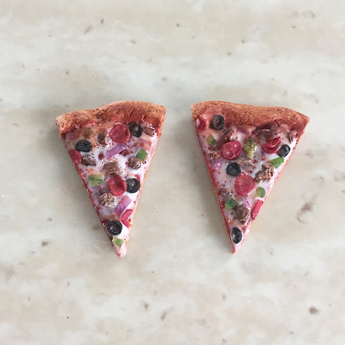 Supreme Pizza SS Post Earrings