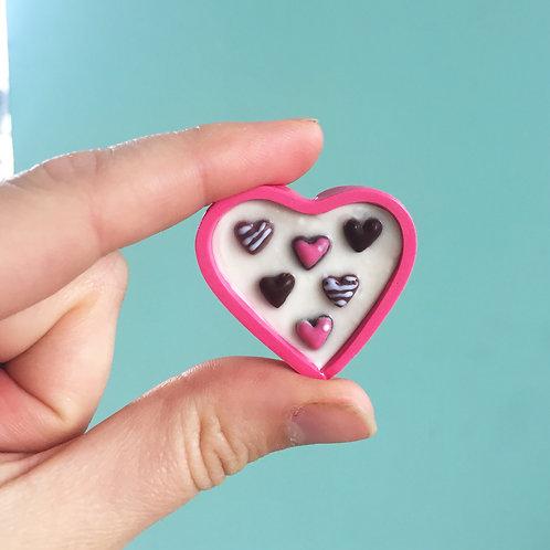 Heart Box of Chocolate Hearts