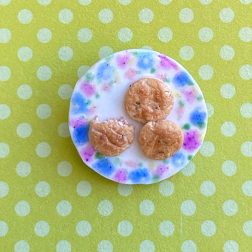 Chocolate Chip Cookie Plate Pin