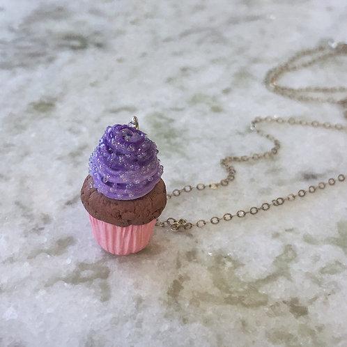 Sugar Plum Chocolate Cupcake Necklace