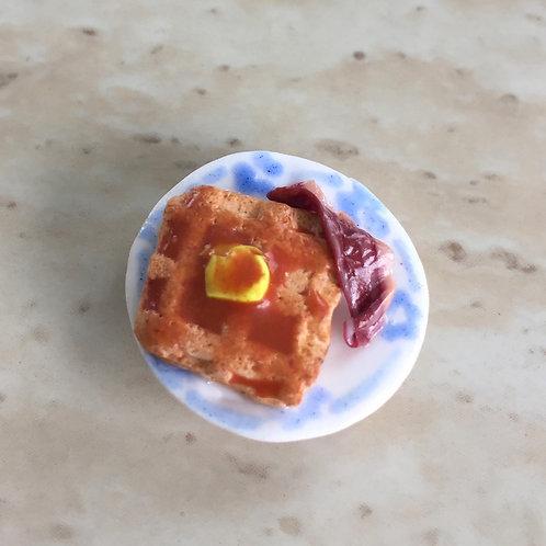 Breakfast Club: Waffle Plate Magnet