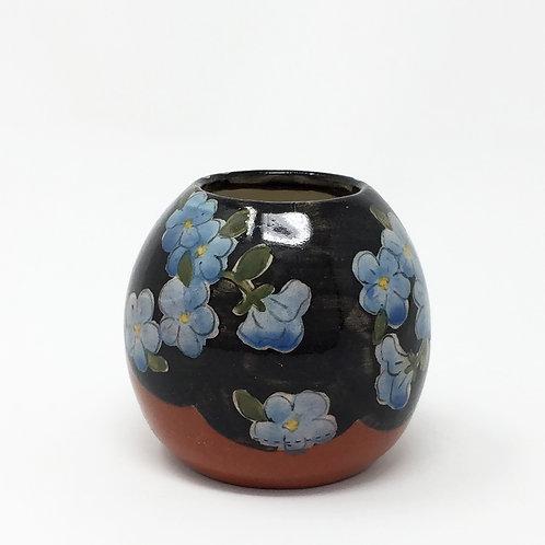 Bud Vase Black / Blue