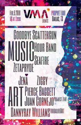 Flyer Design. Poster Design. Music + Art.