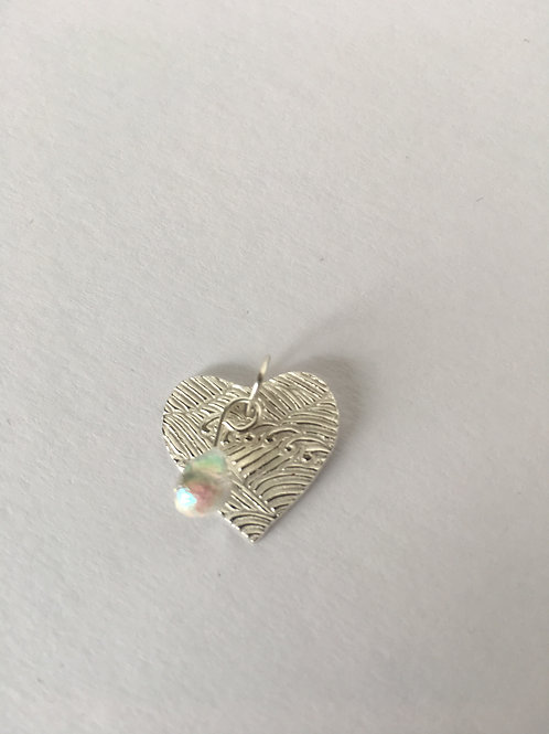 Surf's Up Heart Necklace