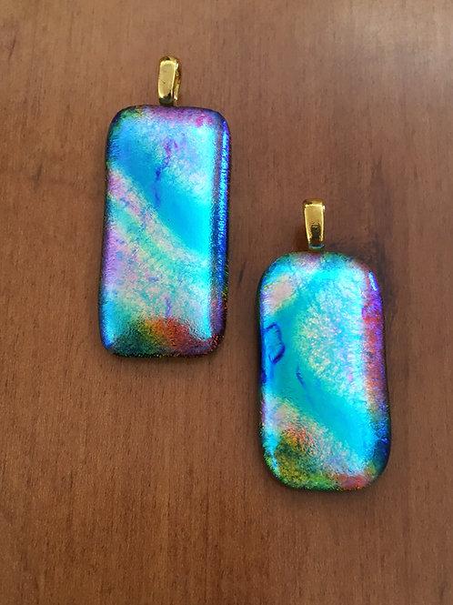 Aurora Borealis Glass Pendants