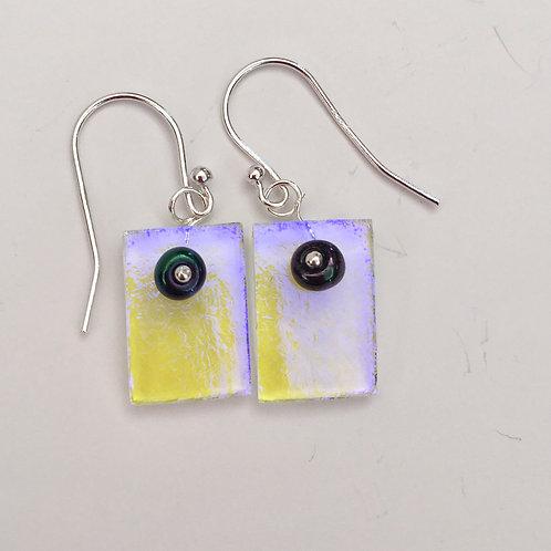 Blue/Yellow Dichro with Rainbow bead