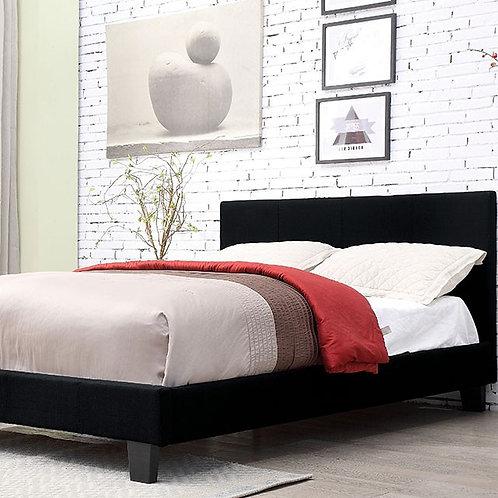 Sims Platform Bed Frame Black Linen