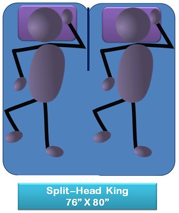 Split head King Size Mattress Size Chart