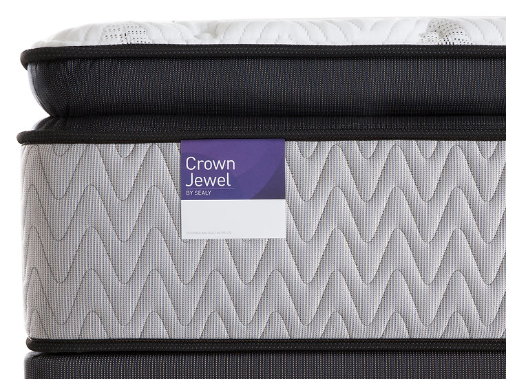 Sealy Britannia Silver Plush  Euro-Pillowtop Mattress