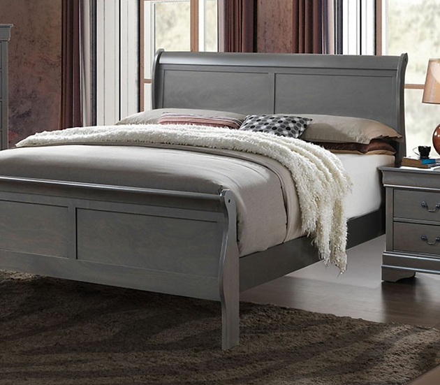 LOUIS PHILIPPE III Bed Frame Gray