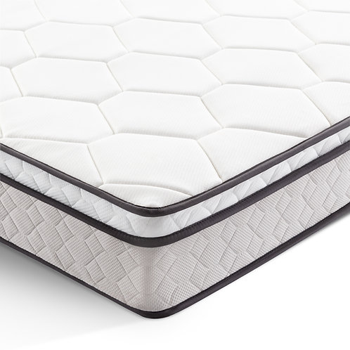"8"" Malouf Euro Top Plush Hybrid Mattress Twin"